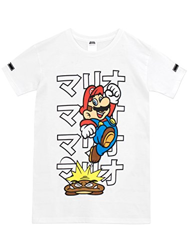 Super Mario Bros - Camiseta para niño - Mario - 9 - 11 Años