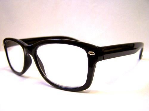 Pretty Smart Glasses Retro Lesebrille Classic Wayfarer 2,5 schwarz 50 's 60 's Geek Nerd 2,50 New
