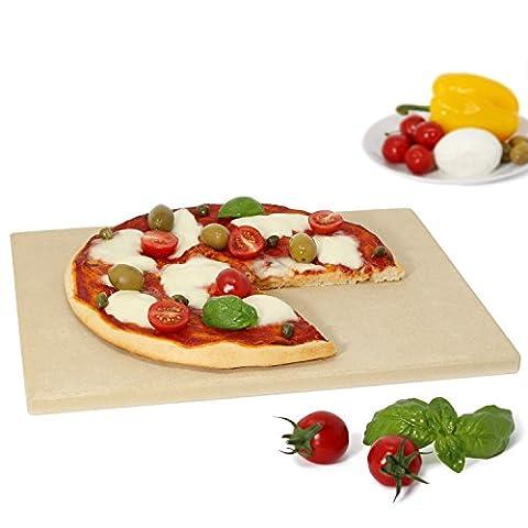 Amazy Pierre à pizza – pour apporter à votre pizza le goût italien authentique et le croustillant d'une cuisson au four à pizza (38 x 30 x 1,5 cm)
