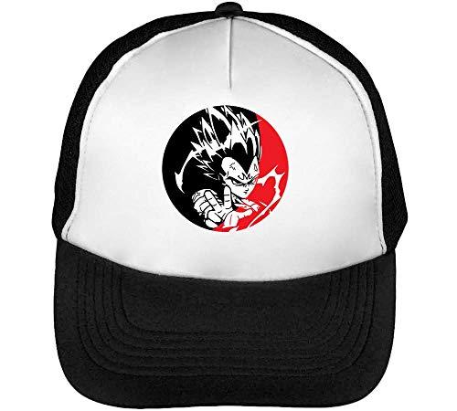 Dragon Ball Z Vegeta Portrait Gorras Hombre Snapback Beisbol Negro Blanco One Size