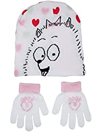 Various Girls Character Stretch Hat and Gloves 2 Piece Set Kids Warm Winter Gift Size UK 3-8 Years