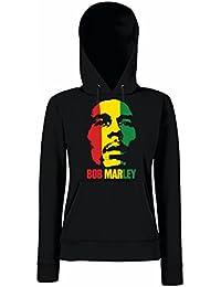 TRVPPY Hooded Sweat Suéter Sudadera con capucha Modelo Bob Marley, para mujer, en muchos colores diferentes