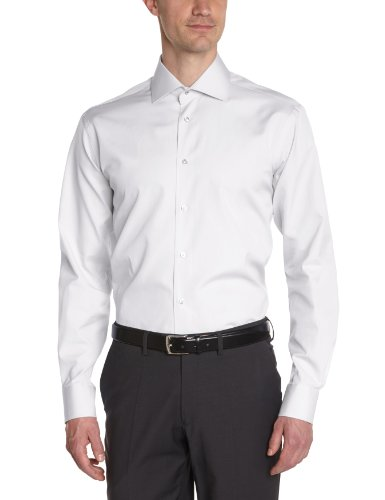 Atelier Privé Herren Businesshemd Popeline Col Italien Weiß