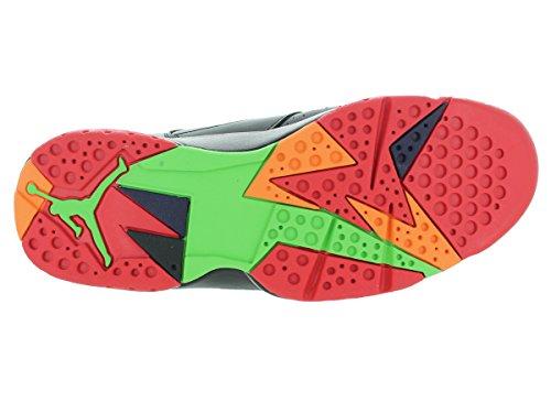 Nike Herren Air Jordan 7 Retro Turnschuhe, Schwarz, 48.5 EU Schwarz / Rot / Grau (Blck / Unvrsty-Grn Rd Gry- Pls-Cl)