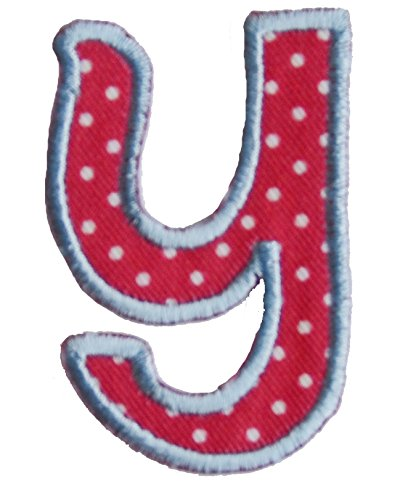 TrickyBoo iron-on fabric smallcase letter y103, 4-5cm personalizes sewing birth embroidered hobby iron on patches Bears Apple Triathlon Animals Tropical Papaya Hiking letters fabric decor kid baby name gift toddler blue green red pink white stripe big small cm inch alphabet ABC craft sew on iron personal personalized a b c d e f g h i j k l m n o p q r s t u v w x y z 2016 word wool woodland wonder womens women wolf with wild wholesale western volkswagen vests vest velcro varsity vampire us unic