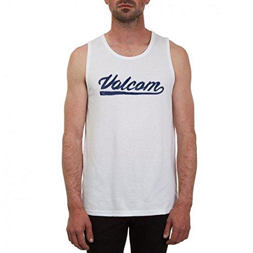 Volcom Basecoat Tank Top ärmelloses T-Shirt Herren Muskelshirt Weiß White, S -
