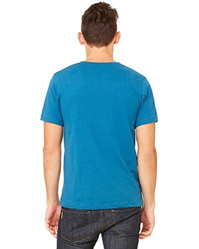 Bella+Canvas: Unisex Jersey Deep V-Neck T-Shirt 3105 Dunkles Himmelblau