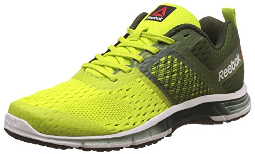 12. Reebok Men's Ride One Green, Yellow, White and Black Running Shoes