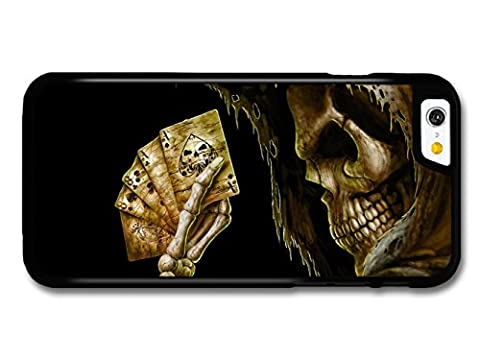 New Goth Scary Dark Punk Rock Style Tattoo Artwork Skull Death Cards coque pour iPhone 6 6S