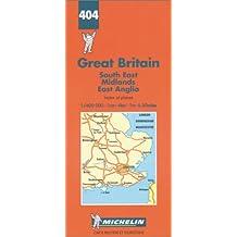 Michelin Karten, Bl.504 : England Süd-Ost, Midlands, East Anglia; South East England, The Midlands, East Anglia (Michelin Maps)