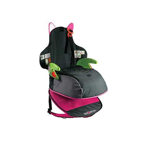 Trunki BoostApak - Travel Backpack & Child Car Booster Seat for Group 2-3 (Pink)  QUICKLY TRANSFORMS - Kid's bag to portable booster cushion in seconds (featuring internal hard shell and fold out seatbelt guides) AVOID HIRE CHARGES - On fly drive holidays! Can also be used as dining, cinema or stadium booster to see the action HAND LUGGAGE - 8-litre capacity for packing toys/games/stationary keeping children entertained on the go 6