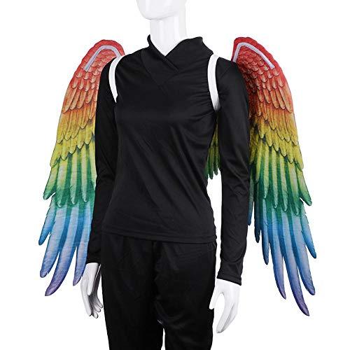 Kostüm Feather Boas - winnerruby Erwachsene Unisex Rainbow Feather Wings Homosexuell Parade Zubehör Kostüm Boas -105x75cm