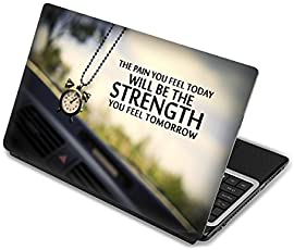"Elton Will Be The Strength Theme 3M Skin Case Vinyl Laptop Skin Case Sticker Reusable Protector Cover Case For 11.6"" -15.6"" Inch"