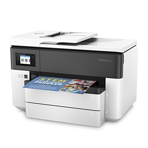 HP Officejet Pro 7730 – Impresora multifunción de Formato Ancho (impresión A3 y A4 Pantalla táctil en Color Memoria 512 MB AAD de 35 Hojas Doble Cara fax AirPrint Bandeja Extra) Color Blanco