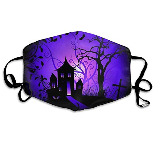 Anti Dust Face Mouth Cover Mask Halloween Cartoon Castle Anti Pollution Breath Healthy Mask