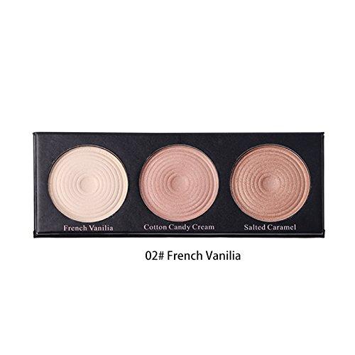 BEAUTY GLAZED 3 Couleurs Makeup Revolution Eyeshadow Palette Fard a Paupiere Mat Highlighter Maquillage Palette #2