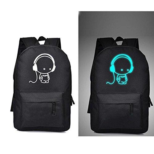 HTRPF leuchtende Schultertasche Männer und Frauen Reisetasche 2