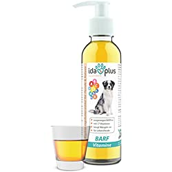 Ida Plus - Multivitamin-Saft 17 in 1 (200 ml) für Hunde - Enthält alle wichtigen Vitamine A, B-Vitamine (B1, B2, B6, B12), C, D, D3, E, K und mehr - Versorgung für bis zu 200 Tage (Flüssig)