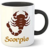 Chiraiyaa Star Sign Scorpio - Inner Black Printed With Black Printed Handle Ceramic Mug