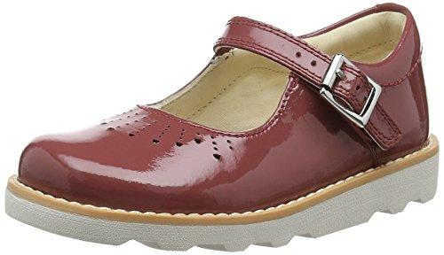 Clarks Mädchen Crown Jump Riemchensandalen Rot (Berry Patent) 25.5 EU Patent Mary Jane Schuhe