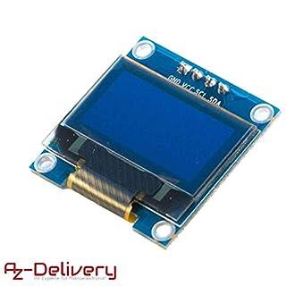 AZDelivery 128 x 64 Pixel 0,96 Zoll OLED I2C Display für Arduino und Raspberry Pi mit gratis eBook