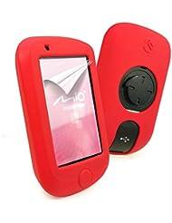 E-Volve Silikon Schutzhülle Tasche für Mio Cyclo 505 / 500 series - Farbe Rot