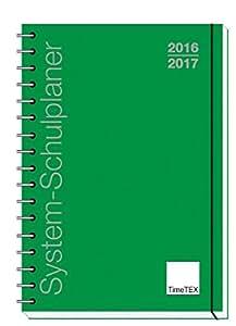 TimeTex System-Schulplaner A4-Plus Grün - Ringbuch - Schuljahr 2016 - 2017 - Lehrerkalender - Unterrichtsplaner - Timetex 10730