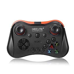 Wireless Gamepad, MOCUTE Bluetooth Joystick / 10m Reichweite Laptop Controller mit Halterung für Smartphone, MID, TV-Box, Smart TV, PC