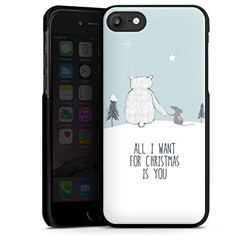 Apple iPhone X Silikon Hülle Case Schutzhülle Weihnachten Freundschaft Winter Hard Case schwarz