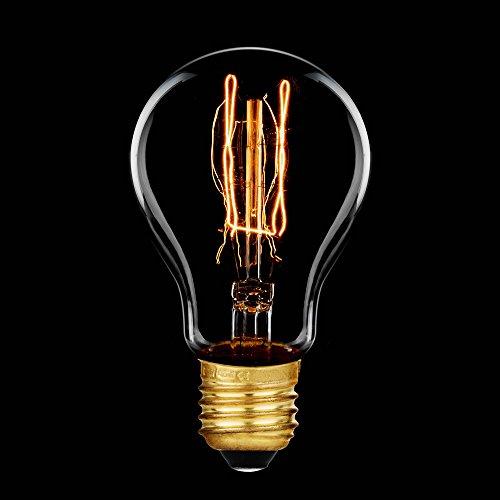 Glühbirne Rustika 60W E27 Vielfachwendel ähnl. Kohlefadenlampe Glühlampe A60
