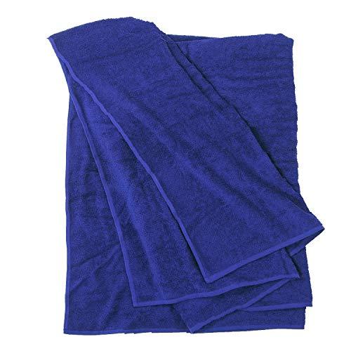Royalblaues Handtuch von Big-Basics bis Größe 155 x 220 cm, Größe:100x220