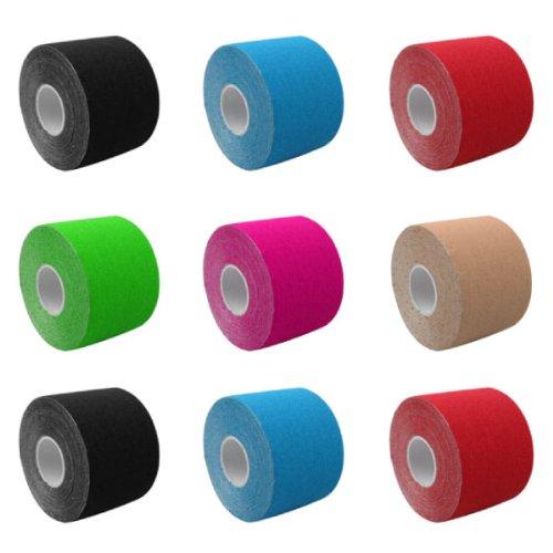 3 Rollen KINTEX Kinesiologie Tape Classic 5m x 5cm Therapie, Physio, Sport Tape 1,50€/m (Seed Tape)