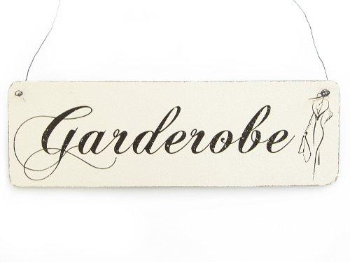 Vintage Deko Schild Türschild GARDEROBE Shabby Nostalgie Landhaus Impression