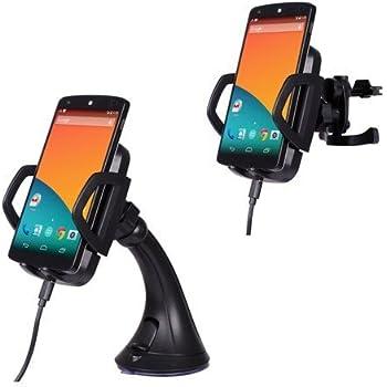 PLESONTECH® Dual Kfz Halterung Set Qi Ladegerät Induktionsladegerät Qi induktive Ladestation mit 3 Induktionsspulen und 2.1A Autoladegerät Kfz Ladegerät 360°drehbar Handy mount holder windschield Handyhalter Handyhalterung Auto Halter für Nexus 6, Nexus 5, Nexus 4, HTC Droid DNA, Nokia Lumia 920 925 , LG Optimus Vu2, kompatibel mit allen anderen Qi kompatiblen Telefonen(Samsung Galaxy S5 /S4 / S3 Galaxy Note 3 / Note 2 und alle qi kompatiblen Handys