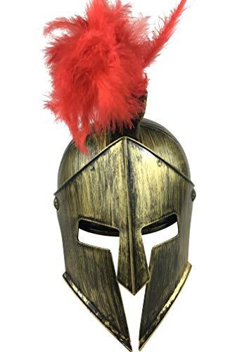 LuxTri Römer - Helm |Spartaner-Helm | Spielzeug Sparta Helm |Larphelm aus Kunststoff mit Kopfschmuck | Kostüm Räuber | Krieger | Drachentöter | Kämpfer | Zwerge | Fasching | Karneval | Hannibal (Zwerg Krieger Kostüm)