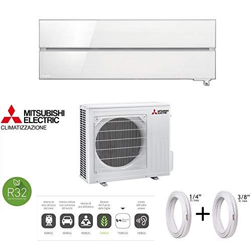 """Mitsubishi Klimaanlage Kirigamine Wifi MelCloud Sensor I-see 3D MSZ-LN35VGV-E1 + MUZ-LN35VG - 12000 BTU + Kupferrohre 1/4\"""" + 3/8\"""" 3 Metri (3+3) perlweiß"""