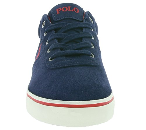 POLO RALPH LAUREN UOMO HANFORD XW4R7 SNEAKERS BLU-ROSSO SUEDE SPRING-SUMMER 2017 Blu/Rosso