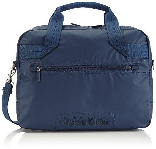 Calvin Klein Jeans METRO LAPTOP BAG J5EJ500489 Herren Henkeltaschen 40x27x11 cm (B x H x T), Blau (BLUE WING TEAL 453) (Laptop-tasche Metro)