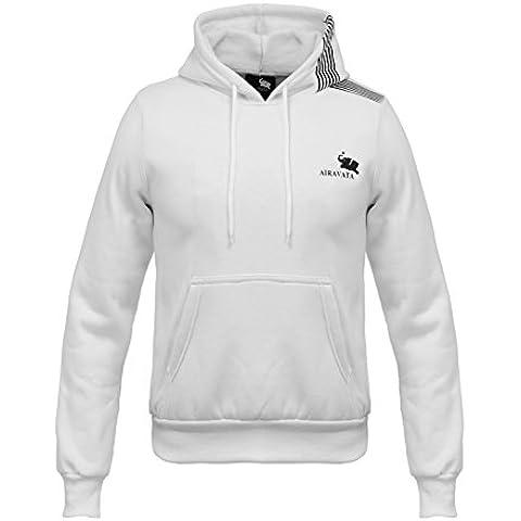 Jiayiqi De Banda Jersey Ecosmart Polar Con Capucha Suéter Blanco Negro Gris