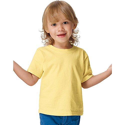 Hanes ComfortSoft® Crewneck Toddler T-Shirt 4T Yellow (Toddler-shirts Hanes)