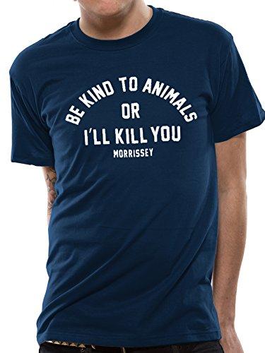 MORRISSEY BE KIND Unisex T-Shirt Offizielles Lizenzprodukt|marine-M
