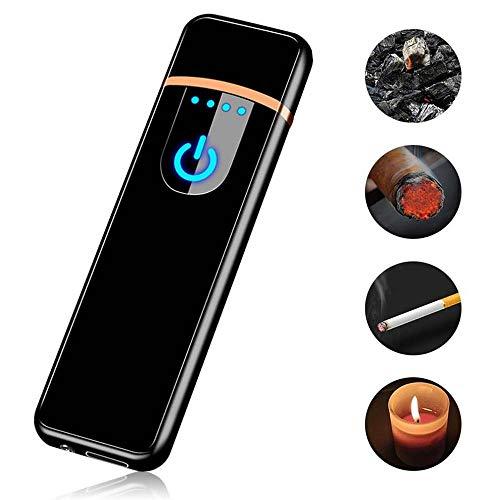 Accendino ricaricabile USB, accendisigari Womdee Accendino sigaro riscaldante Funzionamento elettrico a filo Accendisigari elettronico con funzione sensore tattile per sigaro