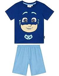 7b74e73babe1 PJ MASKS Disney Licensed Boys Short Sleeve Cotton Pyjamas Set Sleepwear  Pajamas Tops, T-