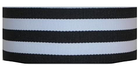 Grosgrain Mono Stripe Ribbon 1.5 Inch 50 Yards Black by Offray