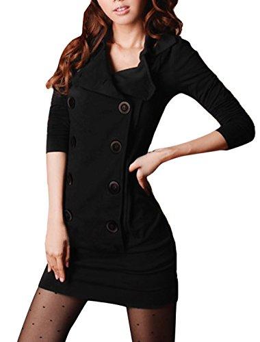 allegra-k-femme-cintre-manches-longues-decontracte-mini-robe-chemise-noir-femme-m-eu-40