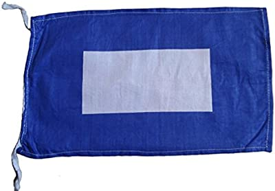 P - International Maritime Signal Code Flag , 100% Cotton , 8