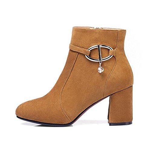 Mejores Zapatos 4u® Para Mujer Zapatos Deportivos De Cuero Real Tacones Altos 7cm Martin Boots Botines Altos Amarillo Negro Amarillo