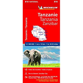 Carte Tanzanie Zanzibar Michelin