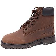 B2902 Anfibio Uomo POLICE883 Stivaletto Scarpa Marrone Shoe Boot Man cdfb2cfd68fc