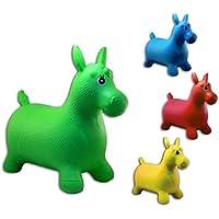 1x hüpf caballo caballito saltarín para niños aprox. 60cm, 1de 4colores